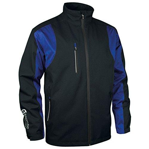 Sunderland Mens Technical Performance Lightweight Waterproof Jacket Black/Electric Blue L