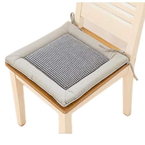 Tatami Chair Cushion Japanese Decent Office Pillow 40x40cm-black 01 - Tatami Chair Cushion Japanese Decent Office Pillow 40x40cm-black 01 by Generic