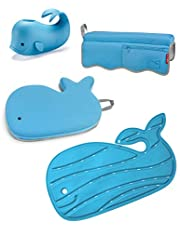 Skip Hop Moby Baby Bath Essential Set, Blue, 4 Count (Pack of 1)