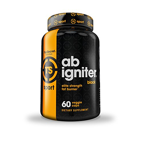 Top Secret Nutrition Ab Igniter BLACK Thermogenic Fat Burner Supplement for Weight Loss, Time Released Formula with No Crash (60 veggie caps)