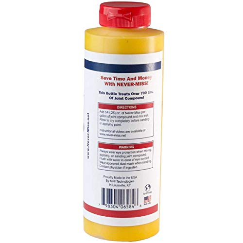 Never-Miss Drywall Mud Tinting Coloring Gel Additive for Finish Coats and Sanding (16.9 oz. Yellow)