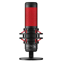 HyperX QuadCast – USB Condenser Gaming Microphone, for PC, PS4 and Mac, Anti-Vibration Shock Mount, Four Polar patterns…