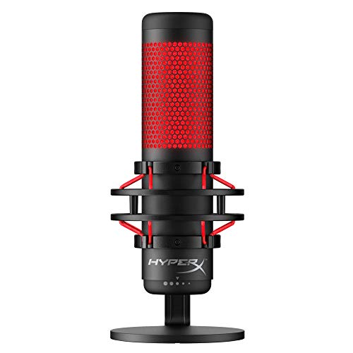 HyperX QuadCast - USB Condenser Gaming Microphone, for PC,...