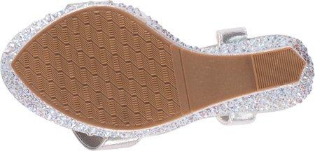 Lauren Lorraine Women's Pari Jeweled Ankle Strap Wedge B01EUL25ES 9.5 B(M) US|Silver