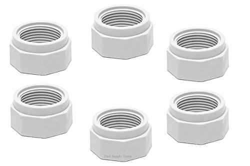 ATIE PoolSupplyTown Pool Cleaner Feed Hose Nut Fits Polaris 280, 380, 180 Pool Cleaner Feed Hose Nut D15 (6 Pack) - Feed Hose Nut