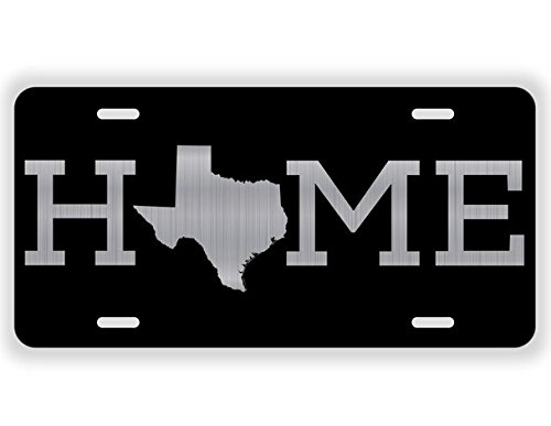 JMM Ind Home Texas State Vanity Novelty License Plate Tag Metal Auto Car Lone Star State 12-Inches by 6-Inches Etched Aluminum UV Resistant ELP016 ()