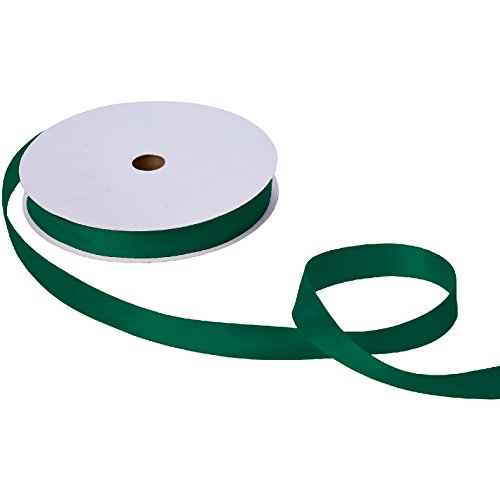 - Jillson Roberts Bulk 1-Inch Double Faced Satin Ribbon Available in 20 Colors, Hunter Green, 100 Yard Spool (BFR1025)