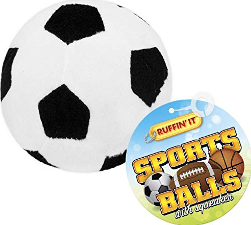 Westminster Ruffin' It Plush Sports Ball Dog Toy, Soccer, 1-Pack ()