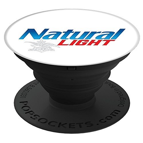Logo Natural - Natural Light White Logo PopSockets Stand for Smartphones & Tablets