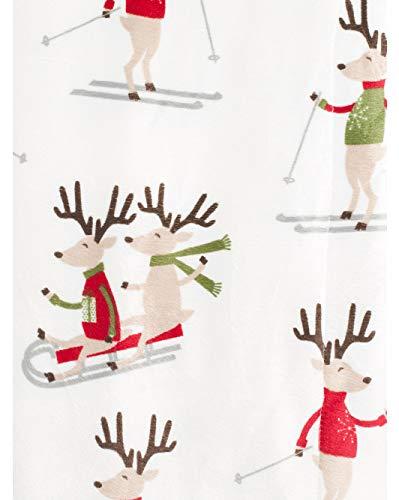 Thro Luxury Fleece Micromink Decorative Throw Blanket Toss Holiday Christmas Pattern Reindeer Games Skis Sleds (Lorenz Christmas Marlo)