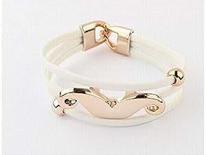Cute fluorescence moustache bracelet