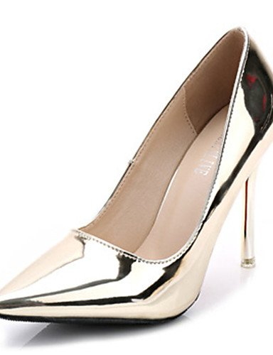 cn39 5 Stiletto Plata eu39 Zapatos cn39 7 Tac¨®n us6 golden mujer golden de us8 uk6 Patentado eu37 eu39 us8 Casual uk4 5 uk6 golden ZQ Oro 5 cn37 Tacones Cuero Tacones n1vHCHxw