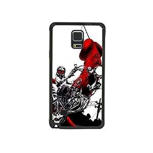 CaseCityLiu - Ride Motorbike Man Japanese Alternative Comics Pattern Black Bumper Plastic+TPU Case Cover for Samsung Galaxy Note4