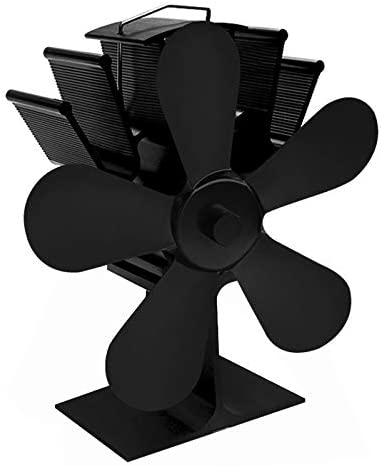 Black Heat Powered Stove Top Fan