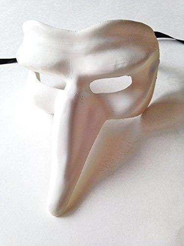 BLANK WHITE CAPITANO GREZZO VENETIAN MASK FOR -