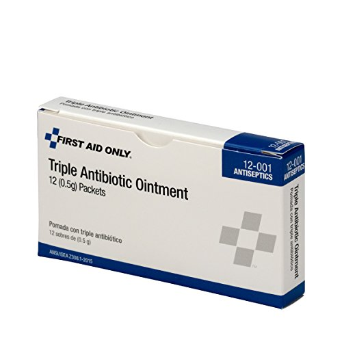 Pac-Kit by First Aid Only 12-001 Triple Antibiotic Ointment Packet (Box of - 5 Aid First Shelf