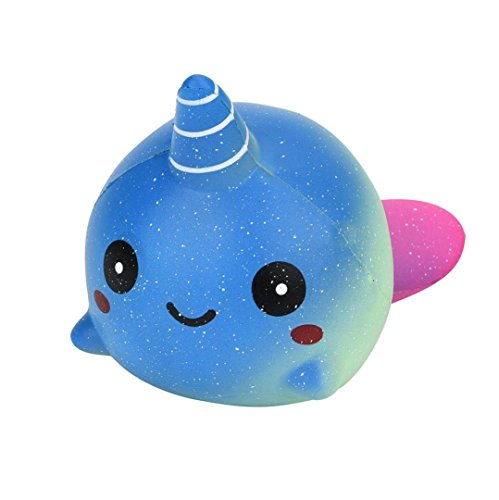SANNYSIS Exquisite Fun Big Whale Scented Squishy Charm Slow Rising Cheap Cute Simulation Kid Toy Squishies (Big Whale)