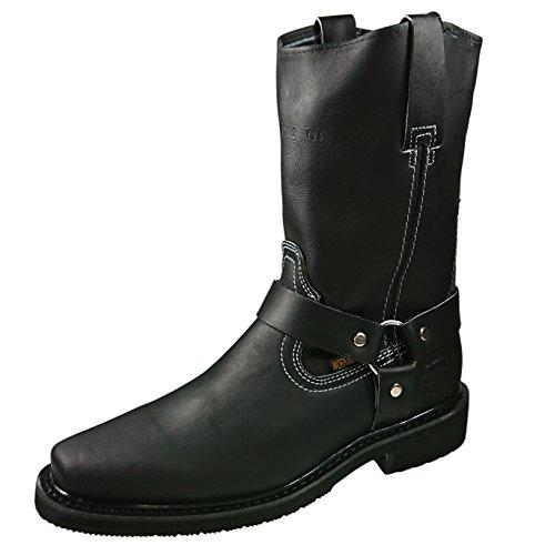 Black Biker Style Boots - 5
