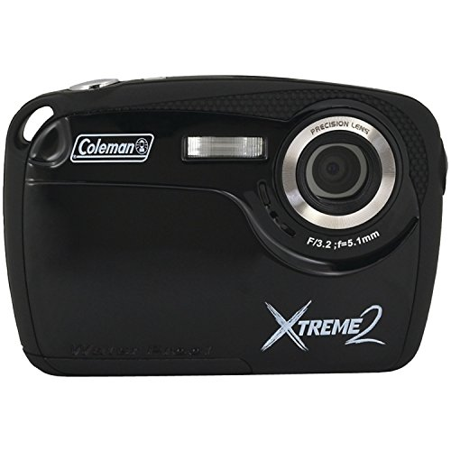 Coleman Xtreme II C12WP-BK 16MP Waterproof Digital Camera wi