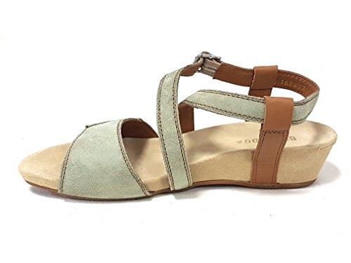 Benvado sandalo Yvonne salvia cuoio