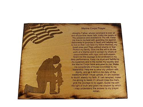 Corps Sign Marine - Marine Corps Prayer Sign - USMC Prayer - USMC Gift - 8.5 x 11.5 Inch Marine Corps Prayer Sign