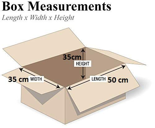 10 Unidades, 50 x 35 x 35 cm Cajas de cart/ón para mudanzas Home Apparel