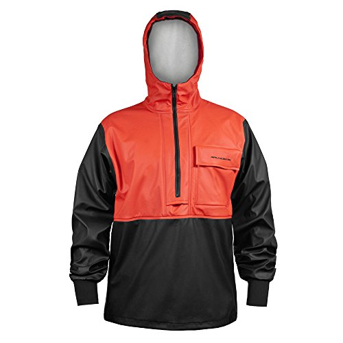 Grundens Neptune Anorak 103 Orange/Black Medium