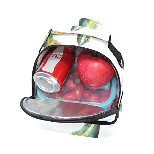 de aislado ajustable doble picnic asiática correa bolsa verde refrigerador almuerzo para camaleón Bandolera 7Ex0nwU7
