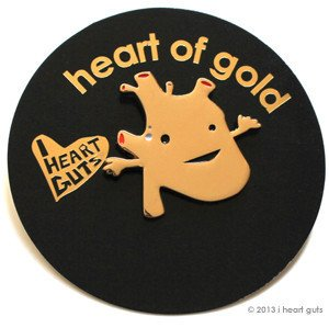 Heart Of Gold Lapel Pin Feel The Beat I Heart -