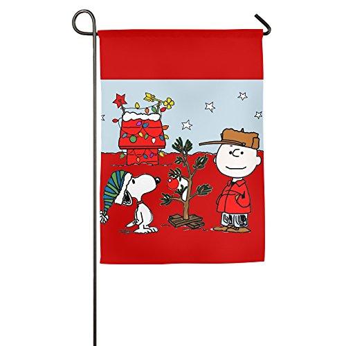 Charlie Brown Christmas Tree Christmas Gift Decorative Home Garden House Flag