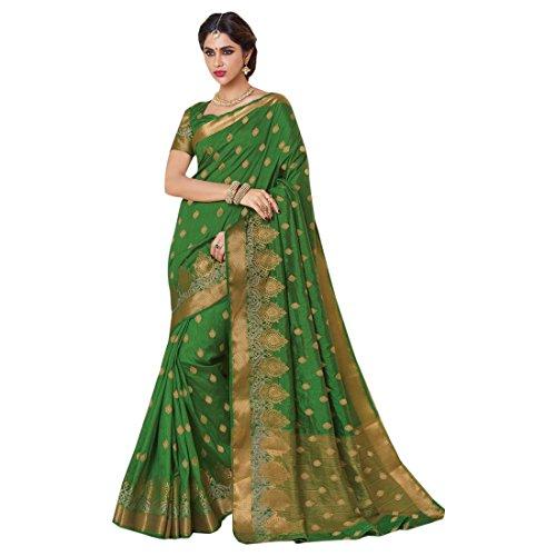 ri Saree Collection Silk Sari Blouse Formal Designer Women Indian Ethnic 2689 ()