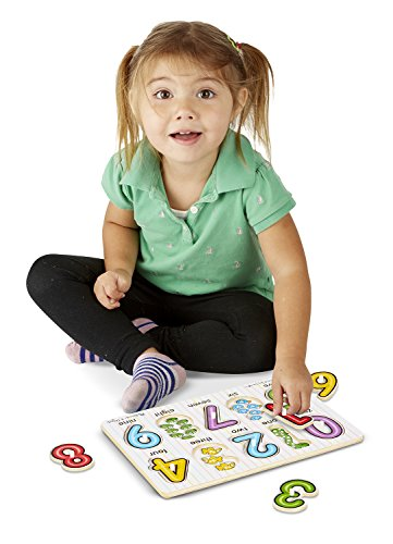 Melissa & Doug See-Inside Numbers Wooden Peg Puzzle (10 pcs)