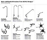 Achla Designs SFB-02C, 8 inch Railing clamp