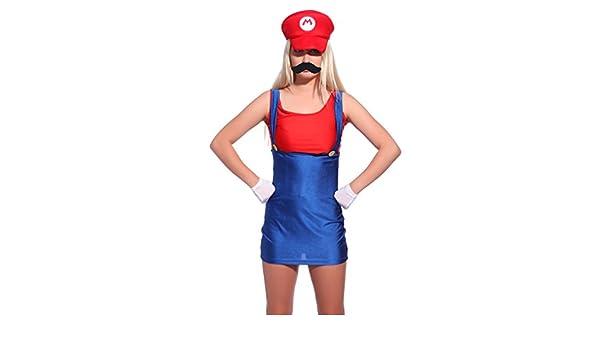 Anladia Disfraz de Mario Bros para Adulto Mujer Cosplay Dress ...