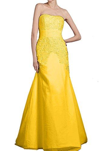 Jugendweihe Elegant mia Chiffon Etuikleider Abendkleider Lang Braut Hell Kleider Spitze Promkleider Partykleider La Gelb Blau Dunkel EwTHqCw8