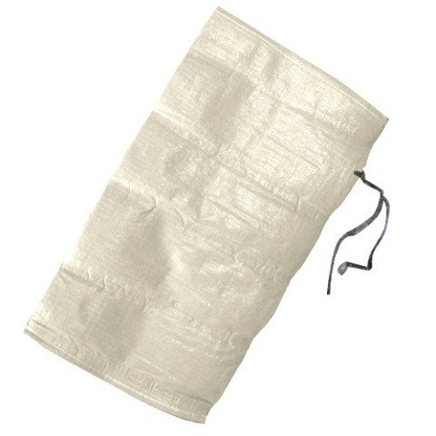 KeepFresh Sand Bags Empty White Woven Polypropylene Bags w/ Ties - Pack of 20