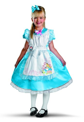 Alice Deluxe Child Costume, Child S(4-6) (Alice In Wonderland Costume Toddler)