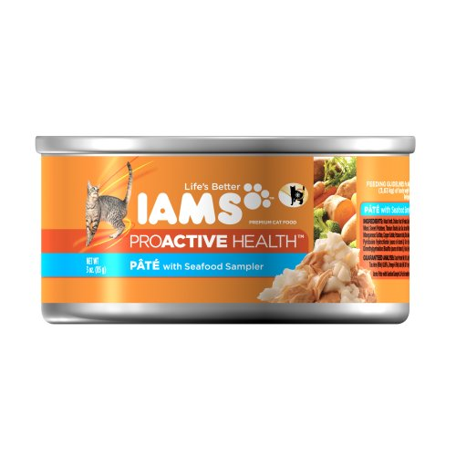 Iams Proactive Health Adult Pate With Seafood Sampler 3 Oz (Pack of 24), My Pet Supplies