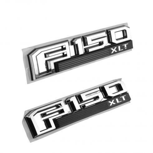 Kimoo F-15XS Pair F-150 XLT for 2015-2016 F-150 Fender Side Emblem Badge Sticker For Ford (Chrome)
