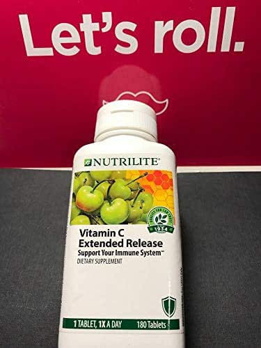 Amway Nutrilite Vitamin C Extended Release 180 Tablets #109747 exp-05/20 F12830.