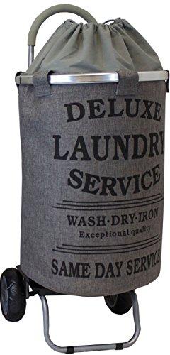 laundry-trolley-dolly-grey-laundry-bag-hamper-basket-cart-with-wheels-sorter