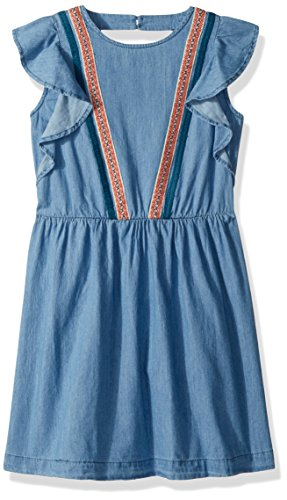 Lucky Brand Girls' Big Short Sleeve Fashion Dress, Ryder wash, Large (12/14) by Lucky Brand