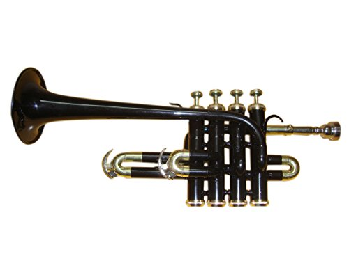 OSWAL Bb/A Black Brass Finishing Piccolo Trumpet With Free Hard Case+Mouthpiece