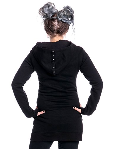 Con Heartless Negro Mujer Capucha Para Sudadera Clothing 667BEA