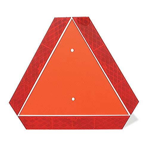 (Grote 71152 Orange/Red Slow-Moving Vehicle Emblem)