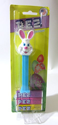 Easter Bunny Pez Dispencer with Blue - Easter Warehouse