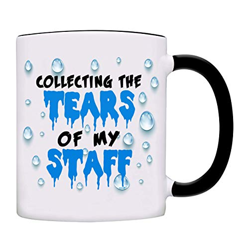 Boss Gift, Collecting The Tears of My Staff, Office Coworker Gift Coffee Mug-0152-Black