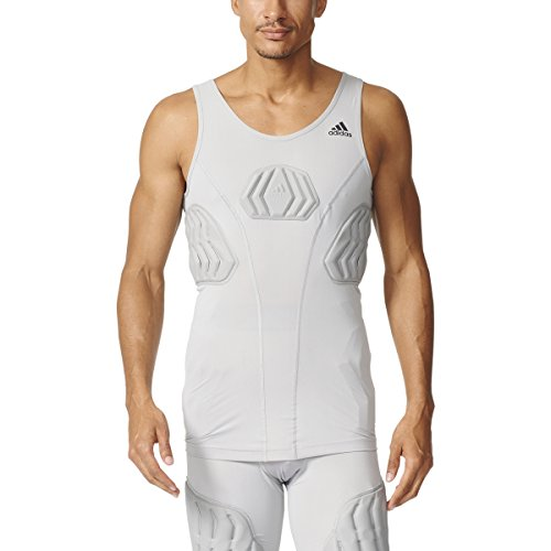 adidas Performance Men's Padded Tank Top, Light Granite, Large