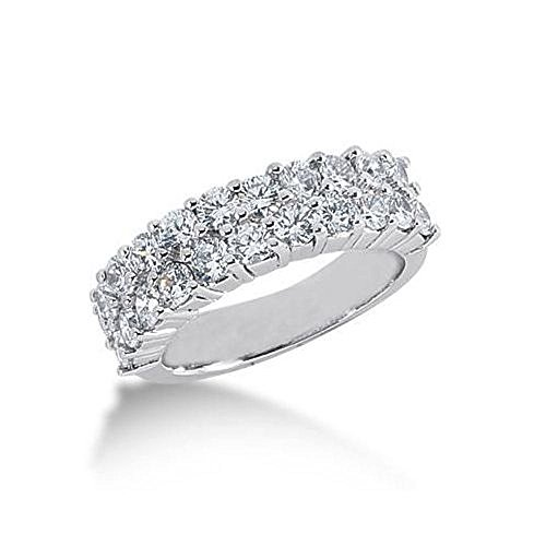 950 Platinum Diamond Anniversary Wedding Ring 22 Round Brilliant Diamonds 1.98ctw 103WR1608PLT - Size 9.25 (22 Round Brilliant Diamonds)