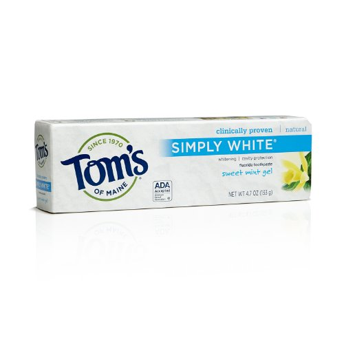 Tom's of Maine 683490 Simply White Natural Toothpaste, Sw...